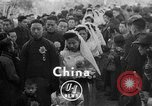 Image of mass Chinese wedding Shanghai China, 1948, second 1 stock footage video 65675069641
