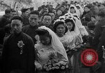 Image of mass Chinese wedding Shanghai China, 1948, second 5 stock footage video 65675069641