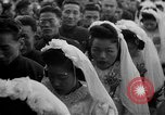 Image of mass Chinese wedding Shanghai China, 1948, second 6 stock footage video 65675069641