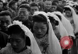 Image of mass Chinese wedding Shanghai China, 1948, second 7 stock footage video 65675069641