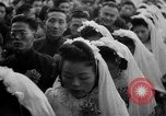 Image of mass Chinese wedding Shanghai China, 1948, second 8 stock footage video 65675069641