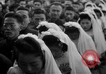 Image of mass Chinese wedding Shanghai China, 1948, second 9 stock footage video 65675069641