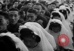 Image of mass Chinese wedding Shanghai China, 1948, second 10 stock footage video 65675069641