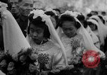 Image of mass Chinese wedding Shanghai China, 1948, second 11 stock footage video 65675069641