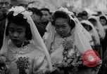 Image of mass Chinese wedding Shanghai China, 1948, second 12 stock footage video 65675069641