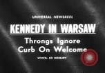Image of Robert F Kennedy visits Poland Warsaw Poland, 1964, second 1 stock footage video 65675069651
