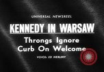 Image of Robert F Kennedy visits Poland Warsaw Poland, 1964, second 3 stock footage video 65675069651