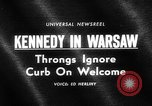 Image of Robert F Kennedy visits Poland Warsaw Poland, 1964, second 4 stock footage video 65675069651