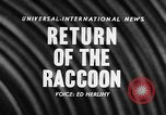 Image of raccoon coats United States USA, 1957, second 4 stock footage video 65675069673