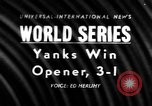Image of 1957 World Series baseball game 1 highlights New York United States USA, 1957, second 1 stock footage video 65675069674