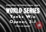 Image of 1957 World Series baseball game 1 highlights New York United States USA, 1957, second 2 stock footage video 65675069674