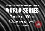 Image of 1957 World Series baseball game 1 highlights New York United States USA, 1957, second 3 stock footage video 65675069674