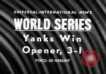 Image of 1957 World Series baseball game 1 highlights New York United States USA, 1957, second 4 stock footage video 65675069674