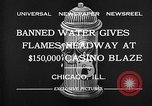 Image of Fire at Miralago ballroom Chicago Illinois USA, 1932, second 7 stock footage video 65675069701
