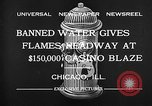 Image of Fire at Miralago ballroom Chicago Illinois USA, 1932, second 8 stock footage video 65675069701