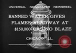 Image of Fire at Miralago ballroom Chicago Illinois USA, 1932, second 12 stock footage video 65675069701