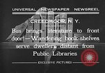 Image of bus carrying books Creedmoor New York USA, 1932, second 2 stock footage video 65675069704