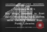 Image of bus carrying books Creedmoor New York USA, 1932, second 5 stock footage video 65675069704