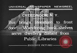 Image of bus carrying books Creedmoor New York USA, 1932, second 6 stock footage video 65675069704