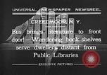 Image of bus carrying books Creedmoor New York USA, 1932, second 8 stock footage video 65675069704