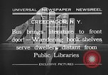Image of bus carrying books Creedmoor New York USA, 1932, second 9 stock footage video 65675069704