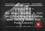 Image of bus carrying books Creedmoor New York USA, 1932, second 11 stock footage video 65675069704