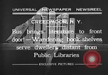 Image of bus carrying books Creedmoor New York USA, 1932, second 12 stock footage video 65675069704