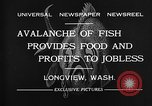 Image of fishermen catch fish Longview Washington USA, 1932, second 5 stock footage video 65675069706
