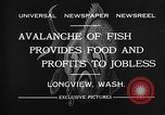 Image of fishermen catch fish Longview Washington USA, 1932, second 6 stock footage video 65675069706