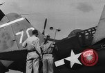 Image of US Navy TBF avenger catapulted from aircraft carrier Ulithi Atoll Caroline Islands, 1944, second 1 stock footage video 65675069716