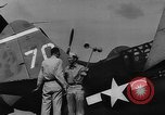 Image of US Navy TBF avenger catapulted from aircraft carrier Ulithi Atoll Caroline Islands, 1944, second 5 stock footage video 65675069716
