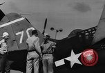 Image of US Navy TBF avenger catapulted from aircraft carrier Ulithi Atoll Caroline Islands, 1944, second 6 stock footage video 65675069716