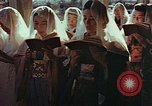 Image of worshipers at a chapel Nagasaki Japan, 1946, second 3 stock footage video 65675069727