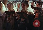 Image of worshipers at a chapel Nagasaki Japan, 1946, second 4 stock footage video 65675069727