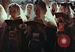Image of worshipers at a chapel Nagasaki Japan, 1946, second 5 stock footage video 65675069727