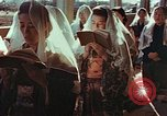 Image of worshipers at a chapel Nagasaki Japan, 1946, second 11 stock footage video 65675069727