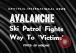 Image of avalanche on Canadian rockies Canada, 1956, second 1 stock footage video 65675069742