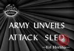 Image of attack sleds Italy, 1945, second 1 stock footage video 65675069768