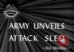 Image of attack sleds Italy, 1945, second 3 stock footage video 65675069768