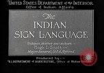 Image of Indian sign language United States USA, 1931, second 5 stock footage video 65675069787