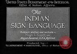 Image of Indian sign language United States USA, 1931, second 7 stock footage video 65675069787