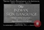 Image of Indian sign language United States USA, 1931, second 8 stock footage video 65675069787