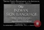 Image of Indian sign language United States USA, 1931, second 9 stock footage video 65675069787