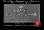 Image of Indian sign language United States USA, 1931, second 10 stock footage video 65675069787