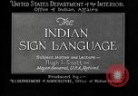 Image of Indian sign language United States USA, 1931, second 12 stock footage video 65675069787