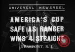 Image of America's Cup Newport Rhode Island USA, 1937, second 1 stock footage video 65675069860