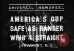 Image of America's Cup Newport Rhode Island USA, 1937, second 3 stock footage video 65675069860