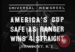 Image of America's Cup Newport Rhode Island USA, 1937, second 6 stock footage video 65675069860