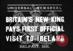 Image of King George VI Belfast Northern Ireland, 1937, second 1 stock footage video 65675069863