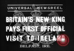Image of King George VI Belfast Northern Ireland, 1937, second 2 stock footage video 65675069863